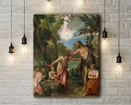 Veronese: The Baptism of Christ. Fine Art Canvas.